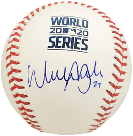 Walker Buehler Autographed Official 2020 World Series Baseball Los Angeles Dodgers Beckett BAS Stock #193679