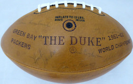 1963 Green Bay Packers Autographed Football With 47 Signatures Including Vince Lombardi & Bart Starr Beckett BAS #AA01317