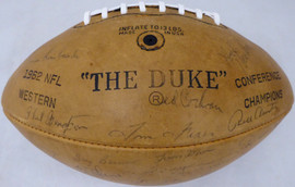 1962 Green Bay Packers Autographed Football With 42 Signatures Including Vince Lombardi & Bart Starr Beckett BAS #AA01319