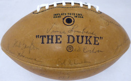 1966 Green Bay Packers Autographed Football With 48 Signatures Including Vince Lombardi & Bart Starr Super Bowl I Beckett BAS #AA01318