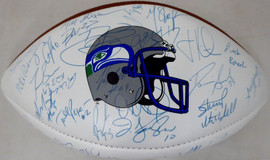 1999 Seattle Seahawks Autographed Football With 60+ Signatures Including Cortez Kennedy & Mack Strong SKU #193695