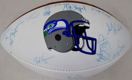 2000 Seattle Seahawks Autographed Football With 18 Signatures Including Walter Jones SKU #193696