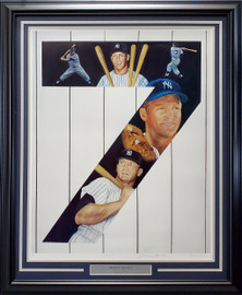 Mickey Mantle Autographed Framed 25x32 Lithograph Photo New York Yankees Artist Proof #23/50 SKU #193714