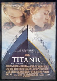 James Cameron Autographed Framed 28x40 Titanic Movie Poster PSA/DNA #G82643