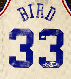 Boston Celtics Larry Bird Autographed White Authentic Mitchell & Ness 1988 All Star Game Authentic Jersey Size 48 (Smudged) Beckett BAS #WA54257