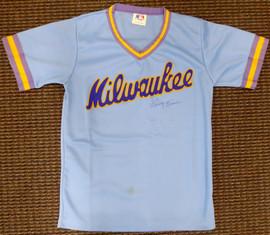 Harvey Kuenn Autographed Milwaukee Brewers Jersey (Stain) PSA/DNA #V11068