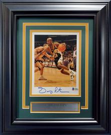 Gary Payton Autographed Framed 6x8 Photo Seattle SuperSonics Beckett BAS Stock #193871