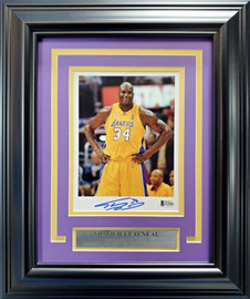 Shaquille O'Neal Autographed Framed 6x8 Photo Los Angeles Lakers Beckett BAS Stock #193874