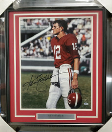 Ken Stabler Autographed Framed 16x20 Photo Alabama Crimson Tide Beckett BAS #X12783