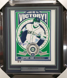 "Ichiro Suzuki Autographed Framed 16x20 Topps Poster Seattle Mariners ""#51"" Artist Proof #13/200 IS Holo SKU #193882"