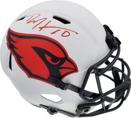 DeAndre Hopkins Autographed Arizona Cardinals Lunar Eclipse White Full Size Replica Speed Helmet Beckett BAS QR Stock #193895