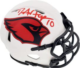 DeAndre Hopkins Autographed Arizona Cardinals Lunar Eclipse White Speed Mini Helmet Beckett BAS QR Stock #193896