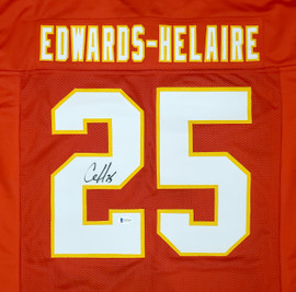 Kansas City Chiefs Clyde Edwards-Helaire Autographed Red Jersey Beckett BAS Stock #193945