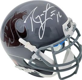 Ryan Leaf Autographed Washington State Cougars Gray Schutt Mini Helmet Beckett BAS QR Stock #193978
