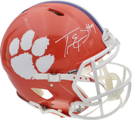 Travis Etienne Autographed Clemson Tigers Orange Full Size Authentic Speed Helmet Beckett BAS Stock #193992