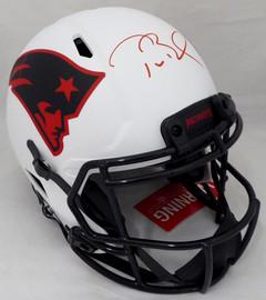 Tom Brady Autographed New England Patriots Lunar Eclipse Full Size Authentic Speed Helmet Fanatics Holo #AA0078100