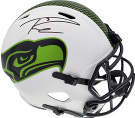 Russell Wilson Autographed Seattle Seahawks White Lunar Eclipse Full Size Speed Replica Helmet RW Holo & Beckett BAS Stock #194002