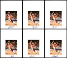 Baron Davis Autographed 8.5x11 Photo 12 Count Lot Golden State Warriors SKU #194024