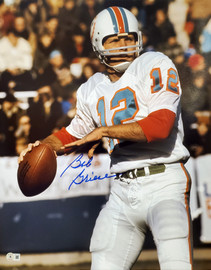 Bob Griese Autographed 16x20 Photo Miami Dolphins Beckett BAS QR Stock #194351