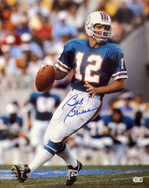 Bob Griese Autographed 16x20 Photo Miami Dolphins Beckett BAS QR Stock #194352