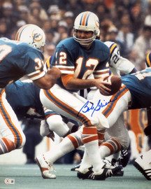 Bob Griese Autographed 16x20 Photo Miami Dolphins Beckett BAS QR Stock #194353