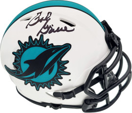 Bob Griese Autographed Miami Dolphins Lunar Eclipse White Speed Mini Helmet Beckett BAS QR Stock #194355