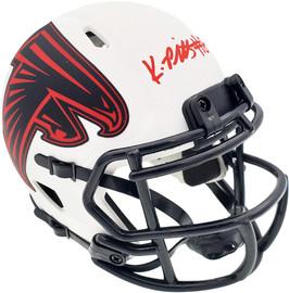 Kyle Pitts Autographed Atlanta Falcons Lunar Eclipse White Speed Mini Helmet Beckett BAS QR Stock #194403