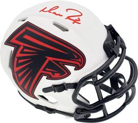 Matt Ryan Autographed Atlanta Falcons Lunar Eclipse White Speed Mini Helmet Beckett BAS QR Stock #194404