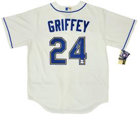 Seattle Mariners Ken Griffey Jr. Autographed Cream Nike Jersey Size L Beckett BAS & MCS Holo Stock #194788