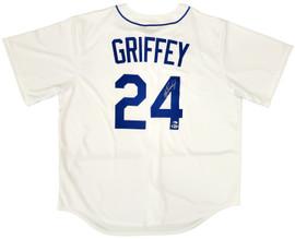 Seattle Mariners Ken Griffey Jr. Autographed White Nike Jersey Size XL Beckett BAS & MCS Holo Stock #194791