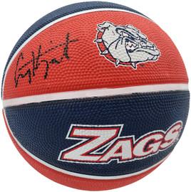 Corey Kispert Autographed Gonzaga Bulldogs Logo Rubber Basketball MCS Holo Stock #194799