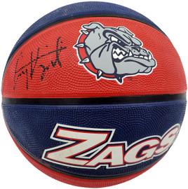 Corey Kispert Autographed Gonzaga Bulldogs Logo Rubber Basketball MCS Holo Stock #194800