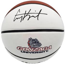 Corey Kispert Autographed Gonzaga Bulldogs White Logo Basketball MCS Holo Stock #194801