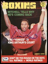 Lennox Lewis Autographed 8x11 Boxing World Magazine Cover PSA/DNA #S42780