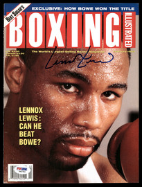 Lennox Lewis Autographed 8x10.5 Boxing Illustrated Magazine Cover PSA/DNA #S42782