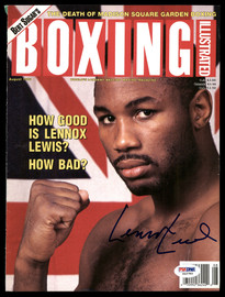 Lennox Lewis Autographed 8x10.5 Boxing Illustrated Magazine Cover PSA/DNA #S42783