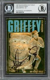 Ken Griffey Jr. Autographed 1997 Bleachers 23 KT Gold Card Seattle Mariners Beckett BAS #13020724