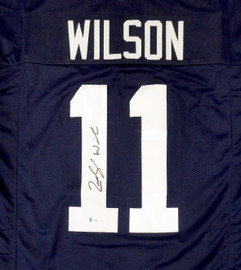 BYU Cougars Zach Wilson Autographed Blue Jersey Beckett BAS Stock #195159