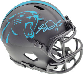 Sam Darnold Autographed Carolina Panthers Eclipse Black Speed Mini Helmet Beckett BAS QR Stock #195170