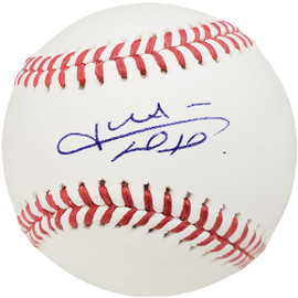 Juan Soto Autographed Official MLB Baseball Washington Nationals Beckett BAS QR Stock #195174
