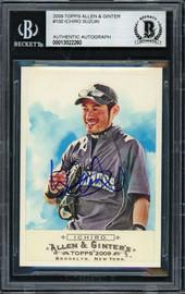 Ichiro Suzuki Autographed 2009 Topps Allen & Ginter Card #100 Seattle Mariners Beckett BAS #13022260