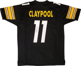 Pittsburgh Steelers Chase Claypool Autographed Black Jersey Beckett BAS Stock #195267