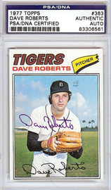 Dave Roberts Autographed 1977 Topps Card #363 Detroit Tigers PSA/DNA #83306561