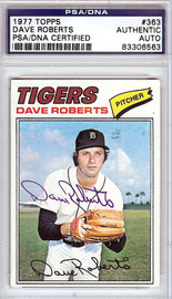 Dave Roberts Autographed 1977 Topps Card #363 Detroit Tigers PSA/DNA #83306563