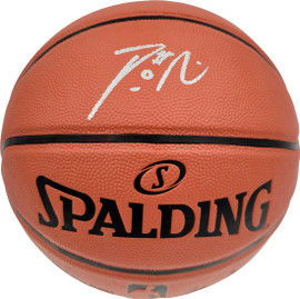 Damian Lillard Autographed Official Spalding Indoor/Outdoor Basketball Portland Trail Blazers Beckett BAS Stock #195280