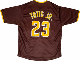 San Diego Padres Fernando Tatis Jr. Autographed Brown Jersey Beckett BAS Stock #195287