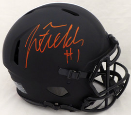 Justin Fields Autographed Ohio State Buckeyes Eclipse Black Authentic Speed Full Size Helmet Beckett BAS #WG94075