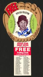 """Mark """"The Bird"""" Fidrych Autographed 4.5x9 1977 Pepsi Disc Detroit Tigers Rookie Beckett BAS #BA84206"""