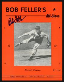 Bob Feller Autographed All Star Program Reprint Cleveland Indians SKU #195397