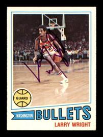 Larry Wright Autographed 1977-78 Topps Card #112 Washington Bullets SKU #195488
